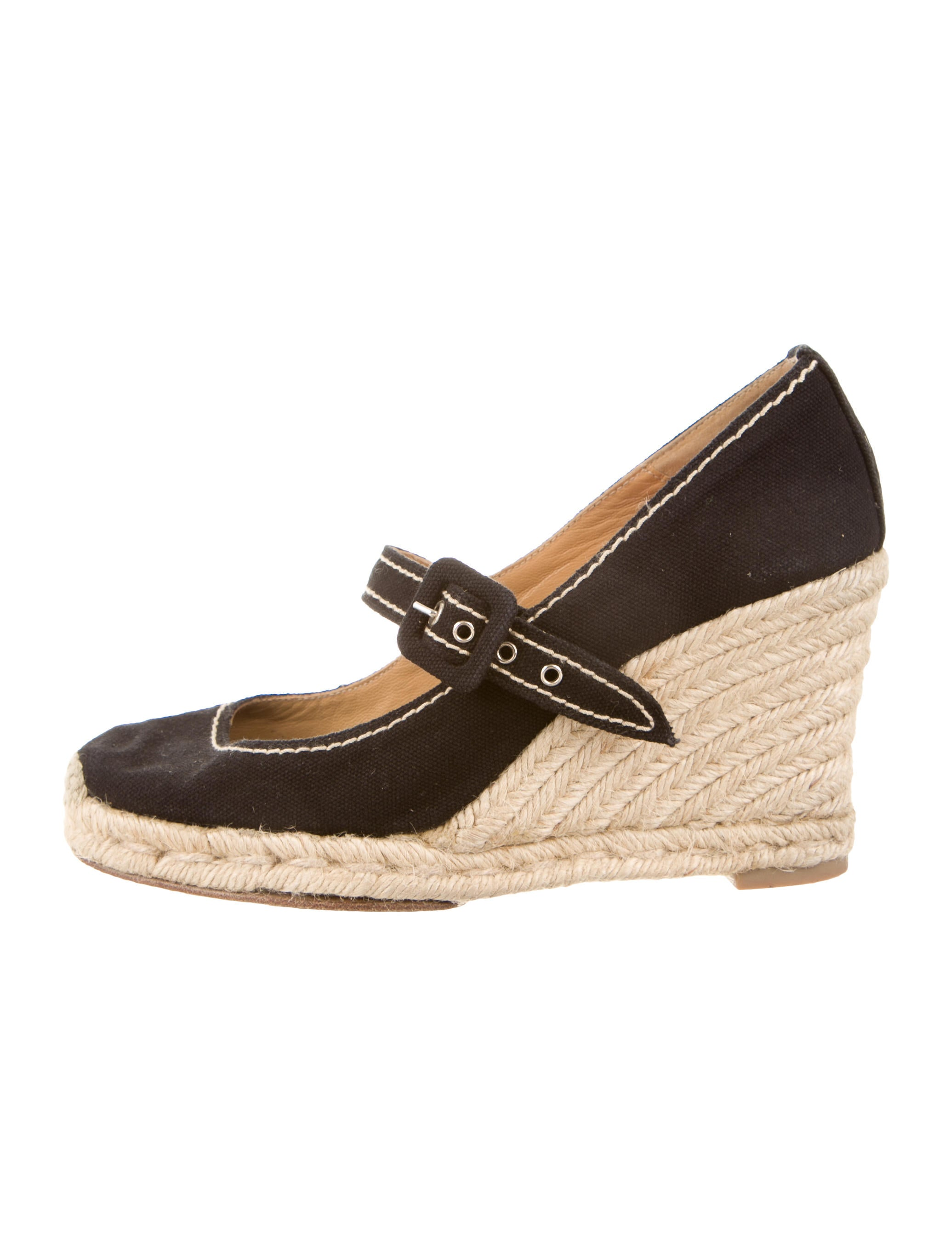 christian louboutin discount shoes - christian louboutin round-toe espadrille wedges, buy replica shoes