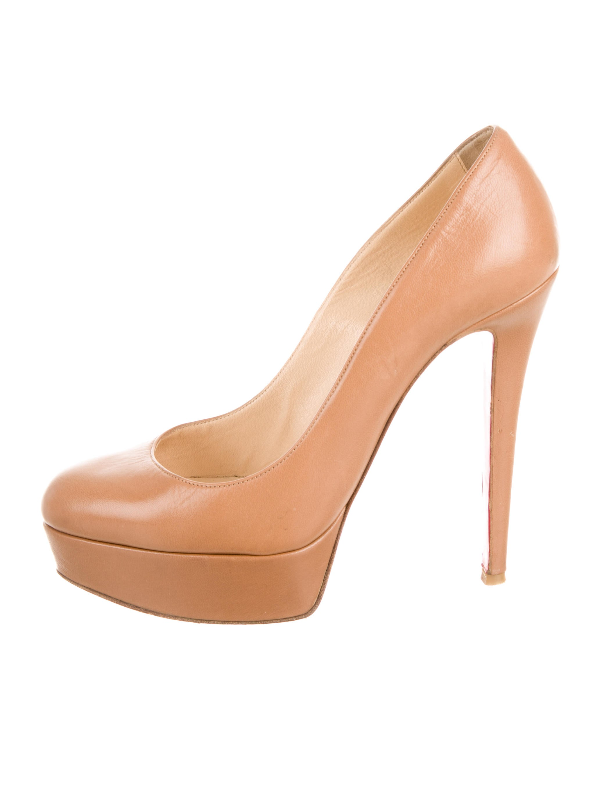 Christian Louboutin Leather Round-Toe Pumps - Shoes - CHT42977 ...