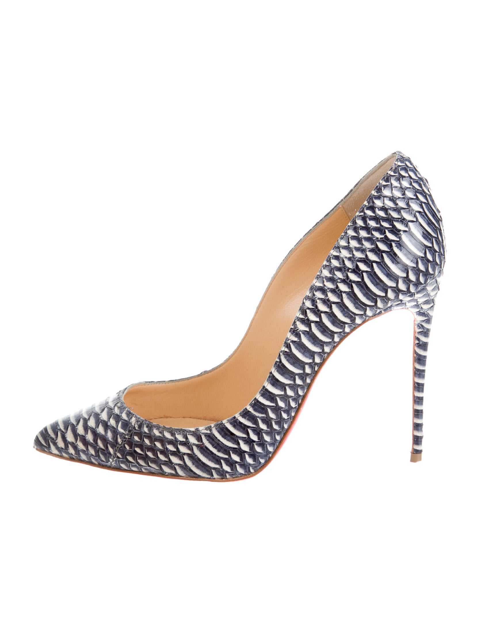 Christian Louboutin Watersnake Pigalle Pumps - Shoes - CHT43082 ...