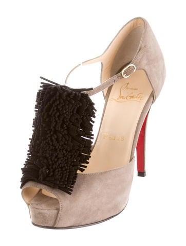 fake louboutin shoes - christian louboutin fringe-accented pumps, christian louboutin ...