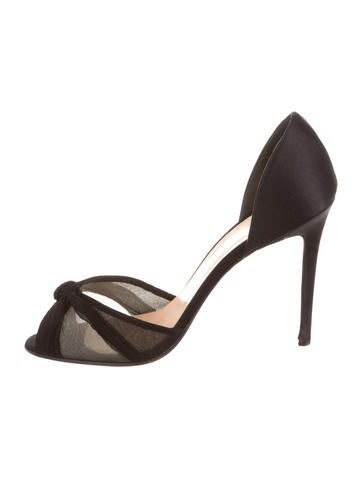 christian louboutin silk d'orsay sandals