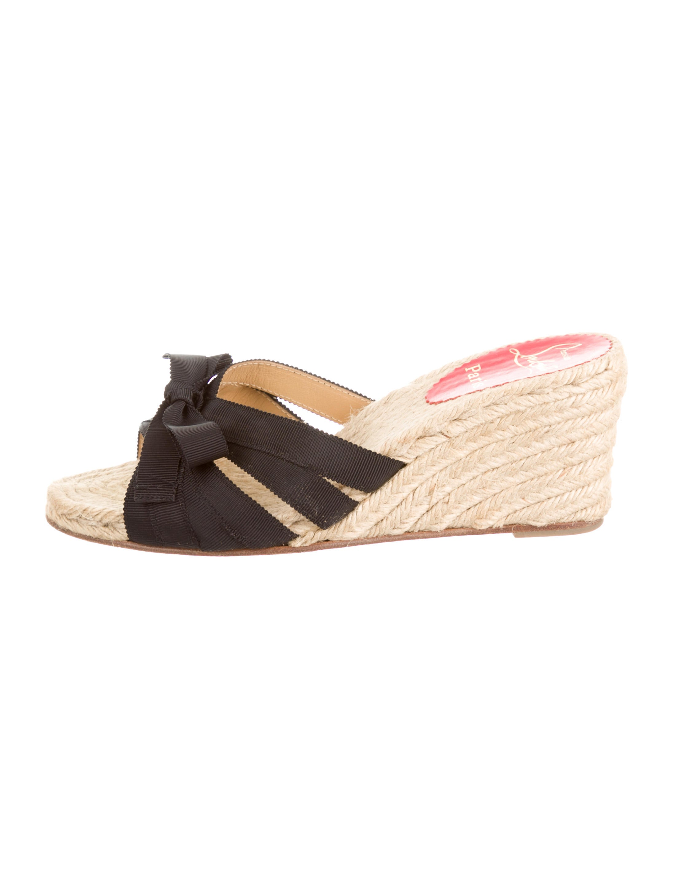 Christian Louboutin Espadrille Slide Sandals - Shoes - CHT43141 ...