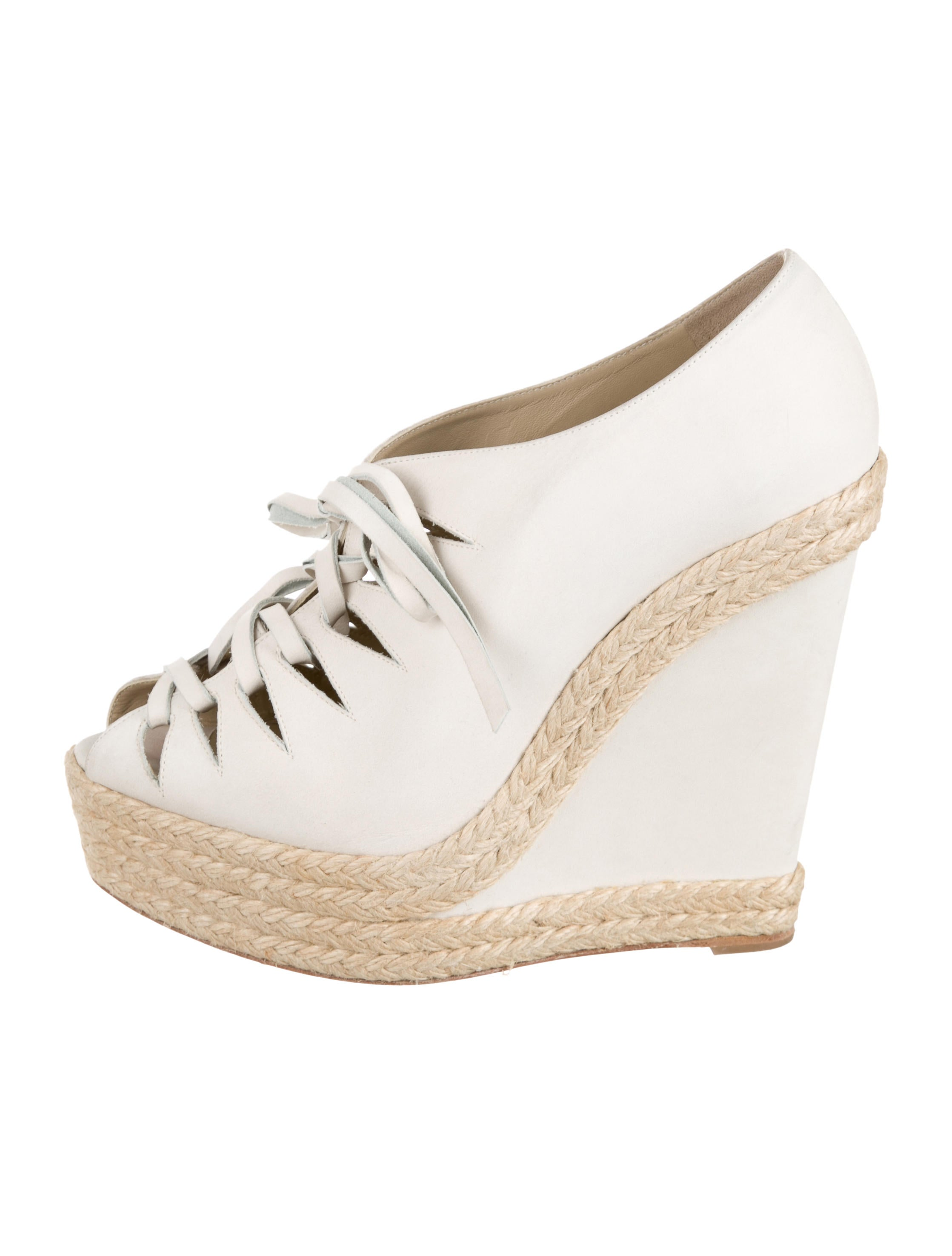 Christian Louboutin Platform Espadrille Wedges - Shoes - CHT43230 ...