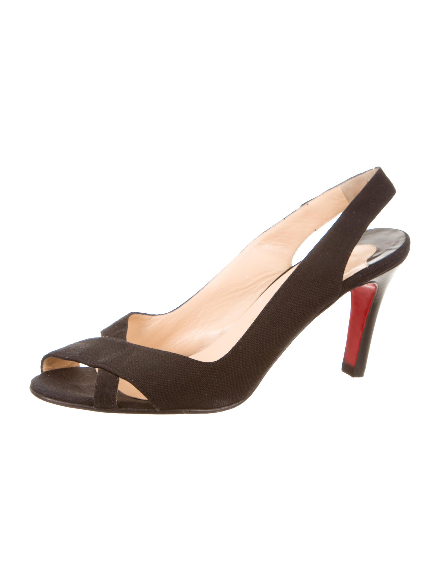 knock off mens shoes - Christian Louboutin Woven Slingback Sandals - Shoes - CHT43775 ...
