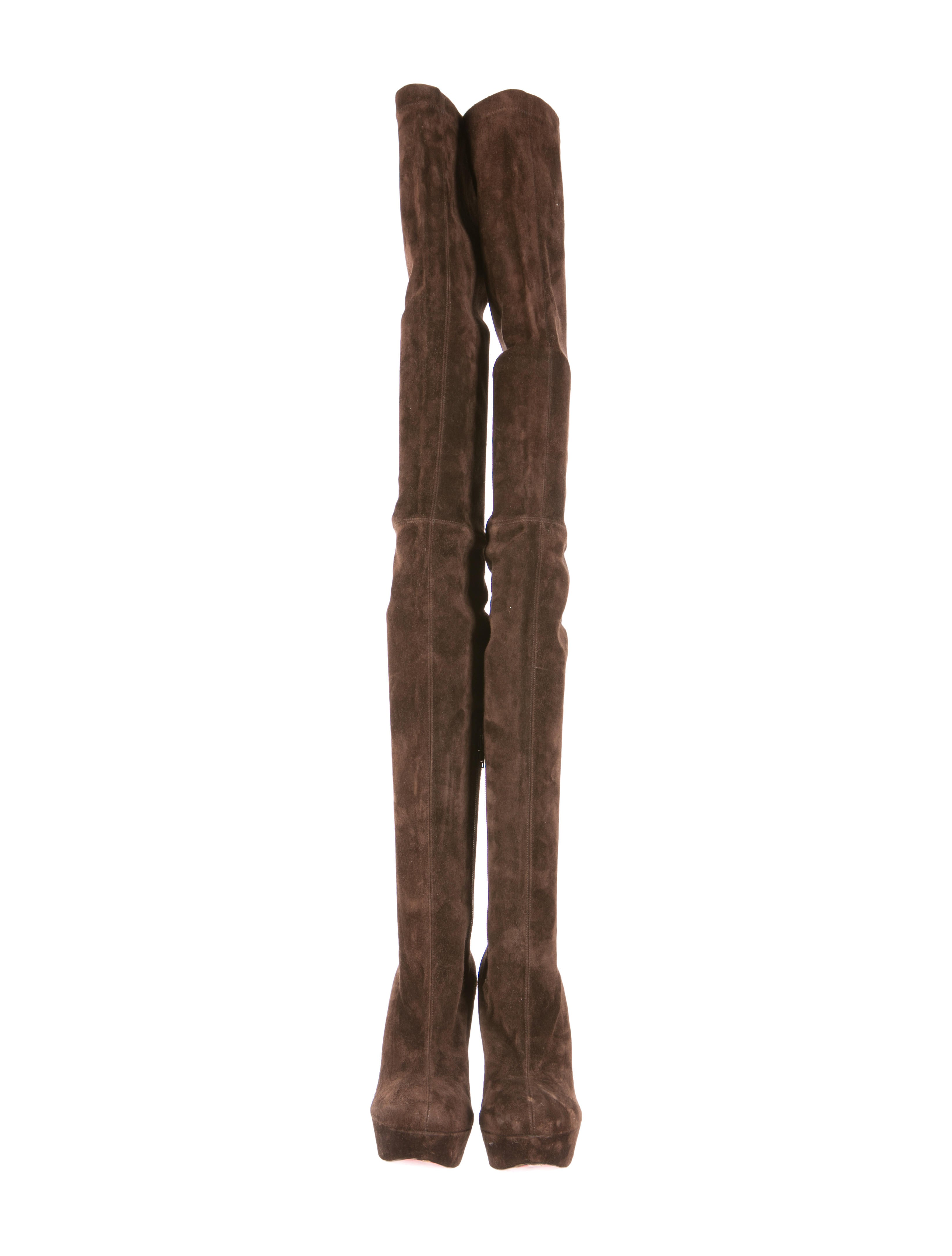 low priced 6eb7a bbcb9 christian louboutin bianca suede over-the-knee boots ...