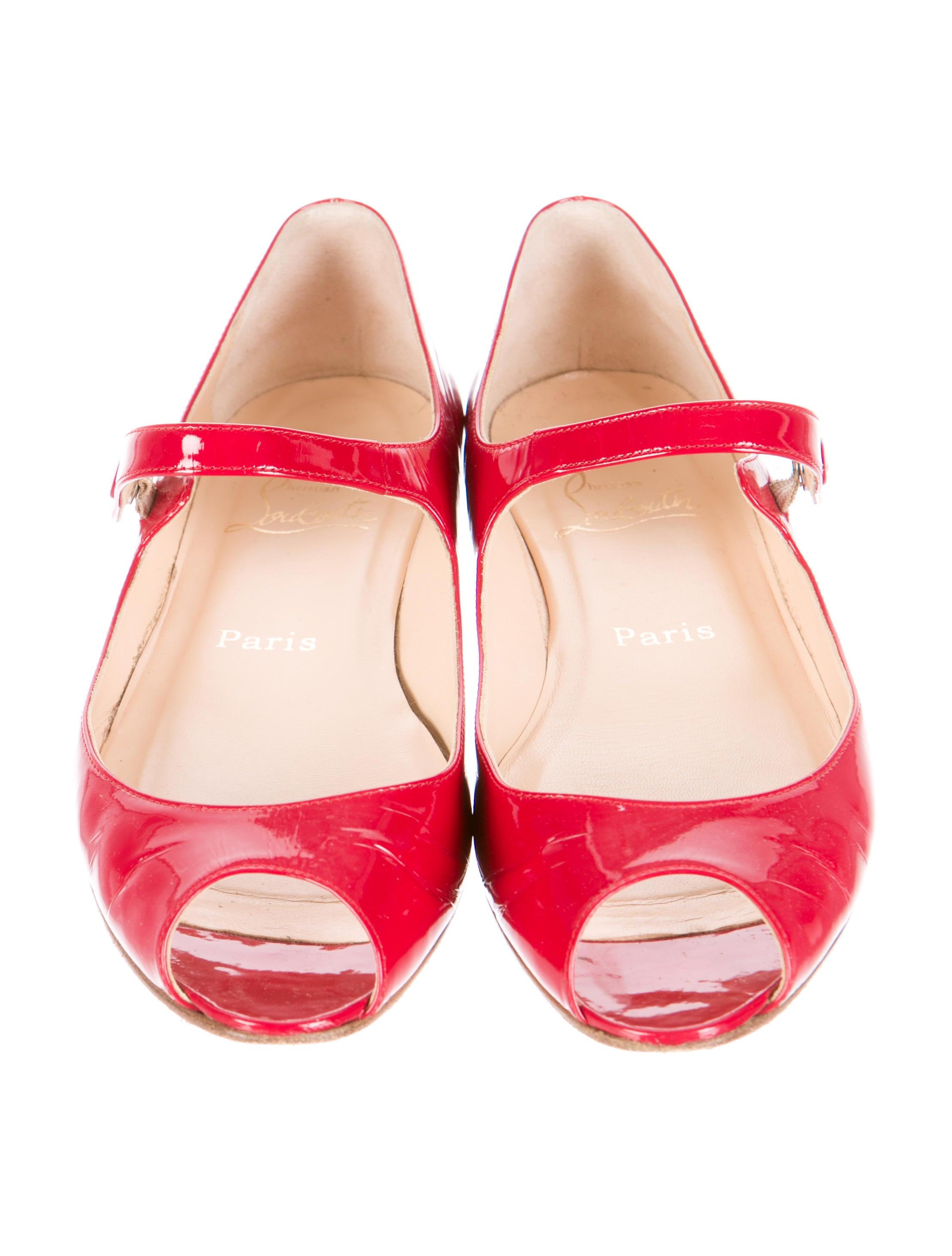 louboutin knock offs - Christian Louboutin Peep-Toe Iowa Flats - Shoes - CHT43892 | The ...