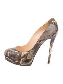 replica shoes christian louboutin - Christian Louboutin Eel Skin Pumps - Shoes - CHT43713   The RealReal