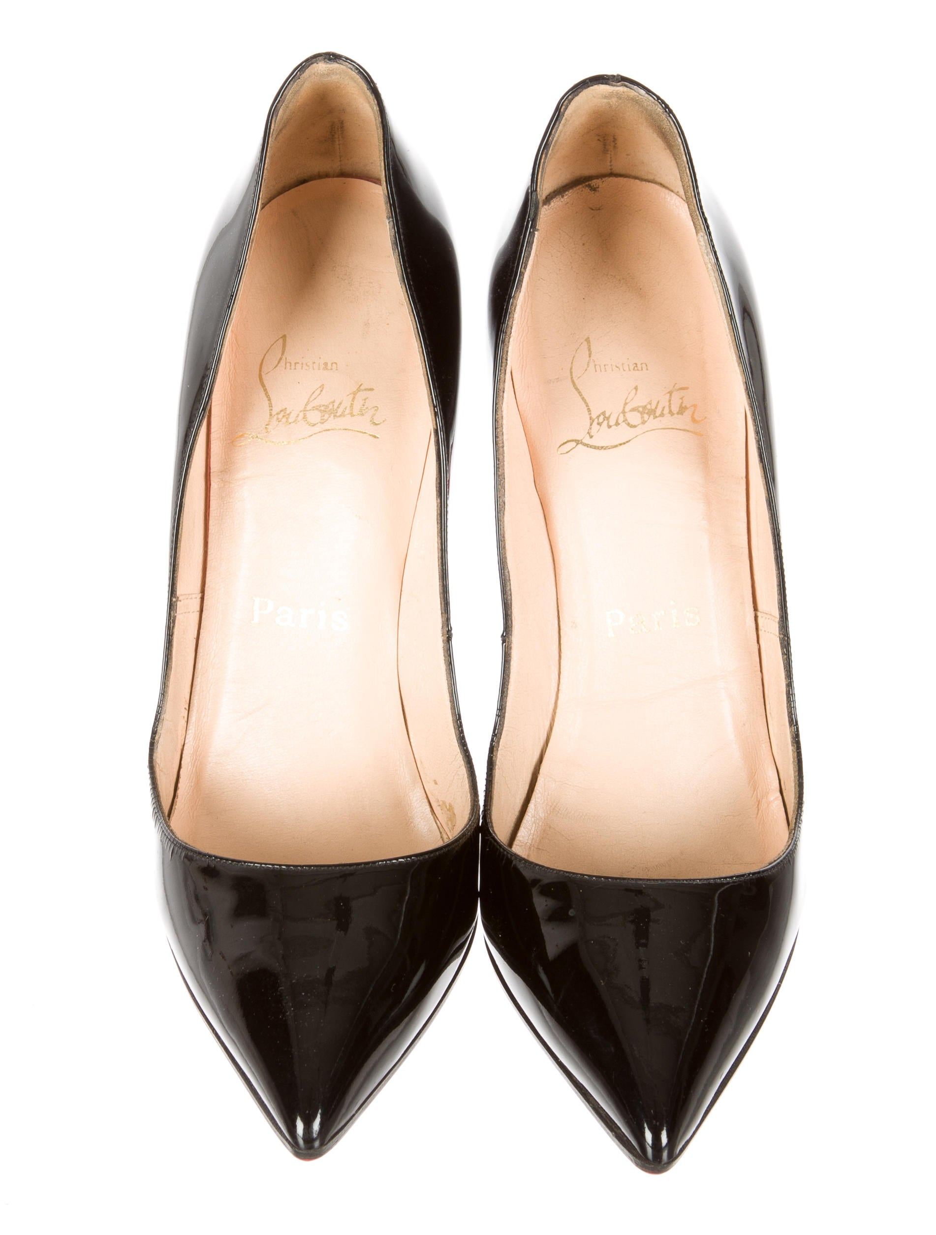 Christian Louboutin Patent Leather Pigalle Pumps - Shoes ...