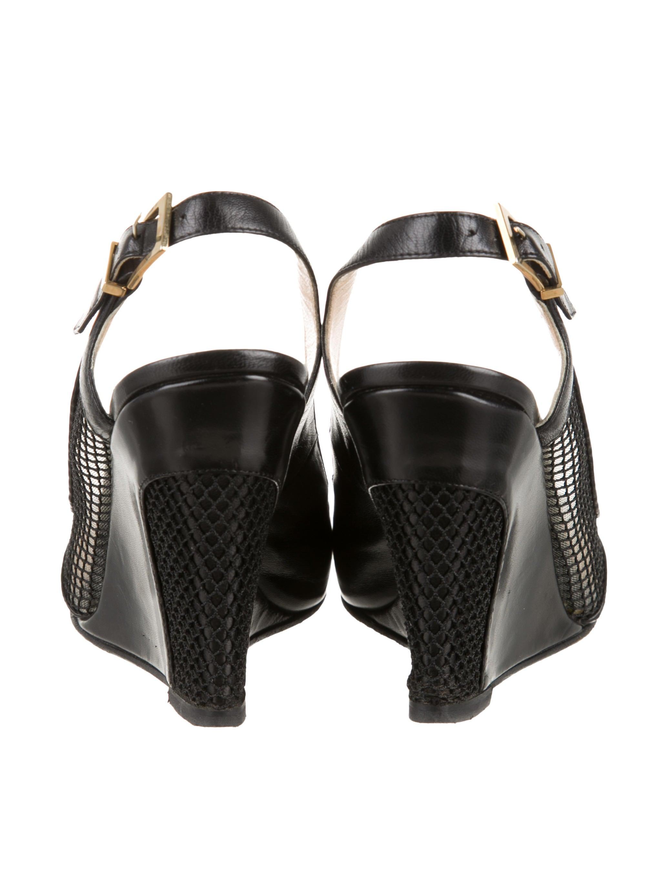 usa replica shoes - christian louboutin mesh-accented slingback pumps, louis vuitton ...