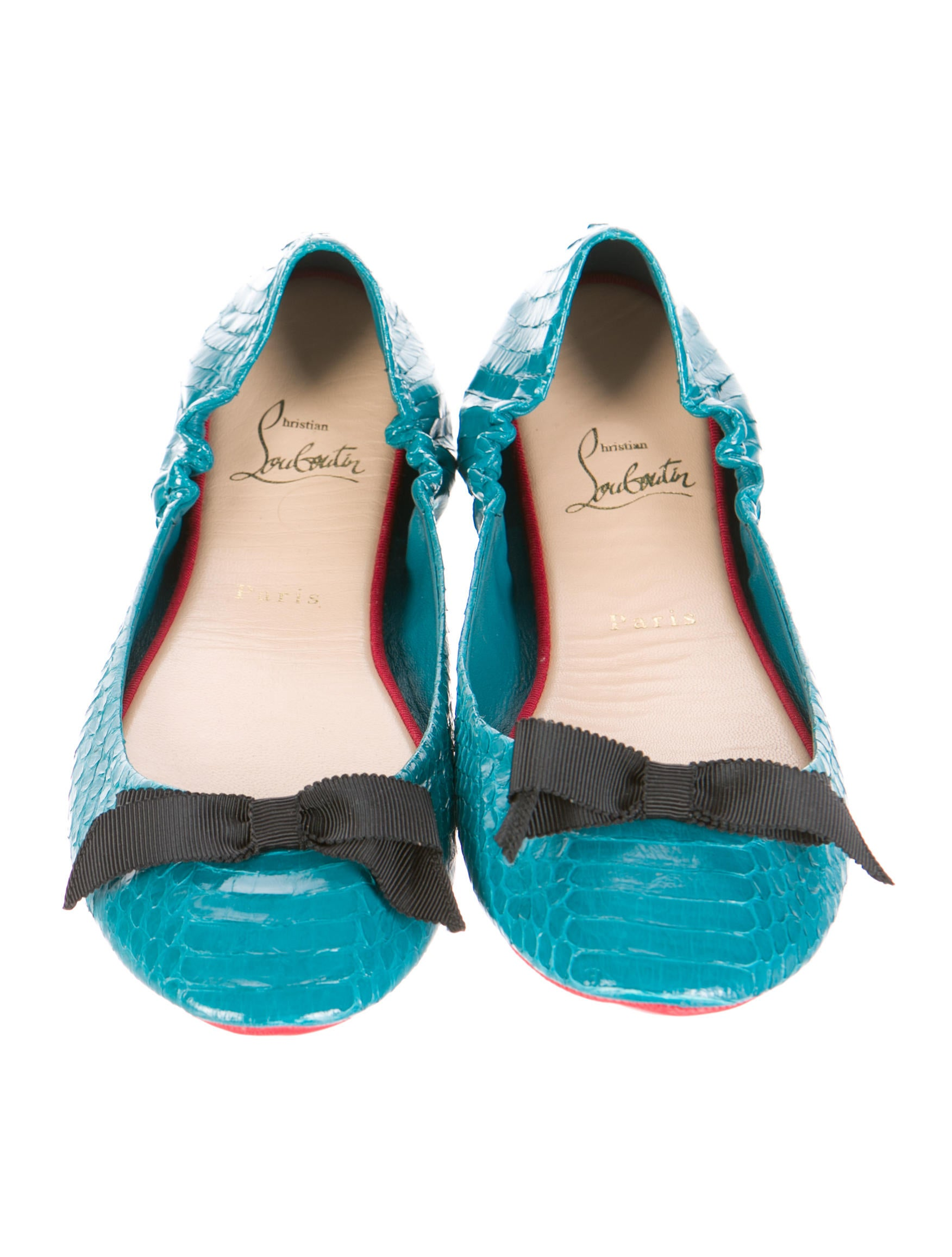 1197775ab13a ... louboutin trainers - Christian Louboutin Watersnake Round-Toe Flats w   Tags - Shoes . ...