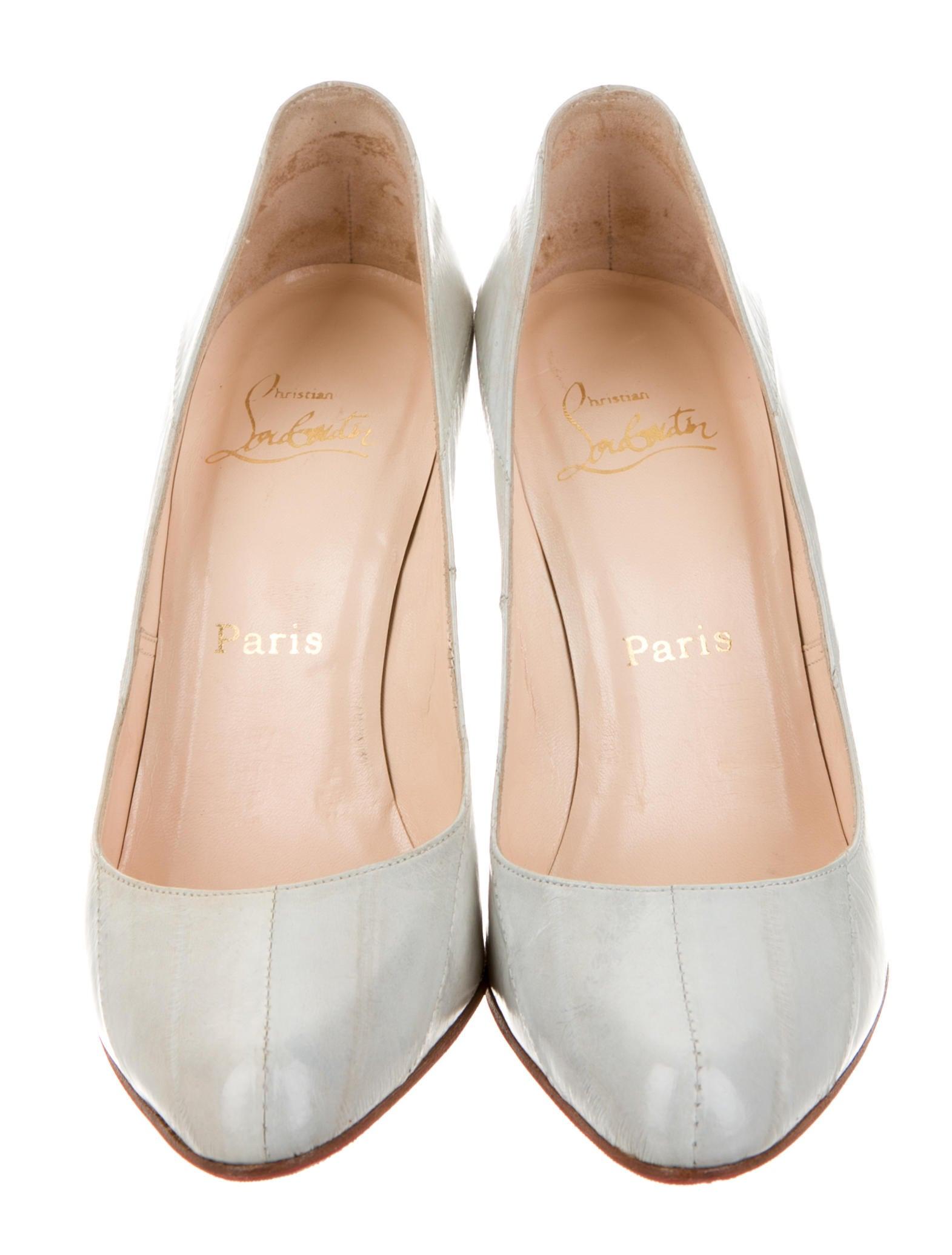 louboutin loafer - Christian Louboutin Eel Skin Decollete 868 Pumps - Shoes ...