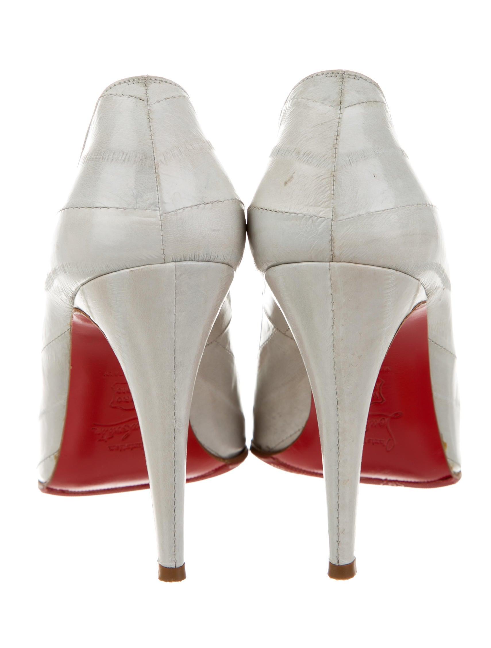 Christian Louboutin Eel Skin Decollete 868 Pumps - Shoes ...