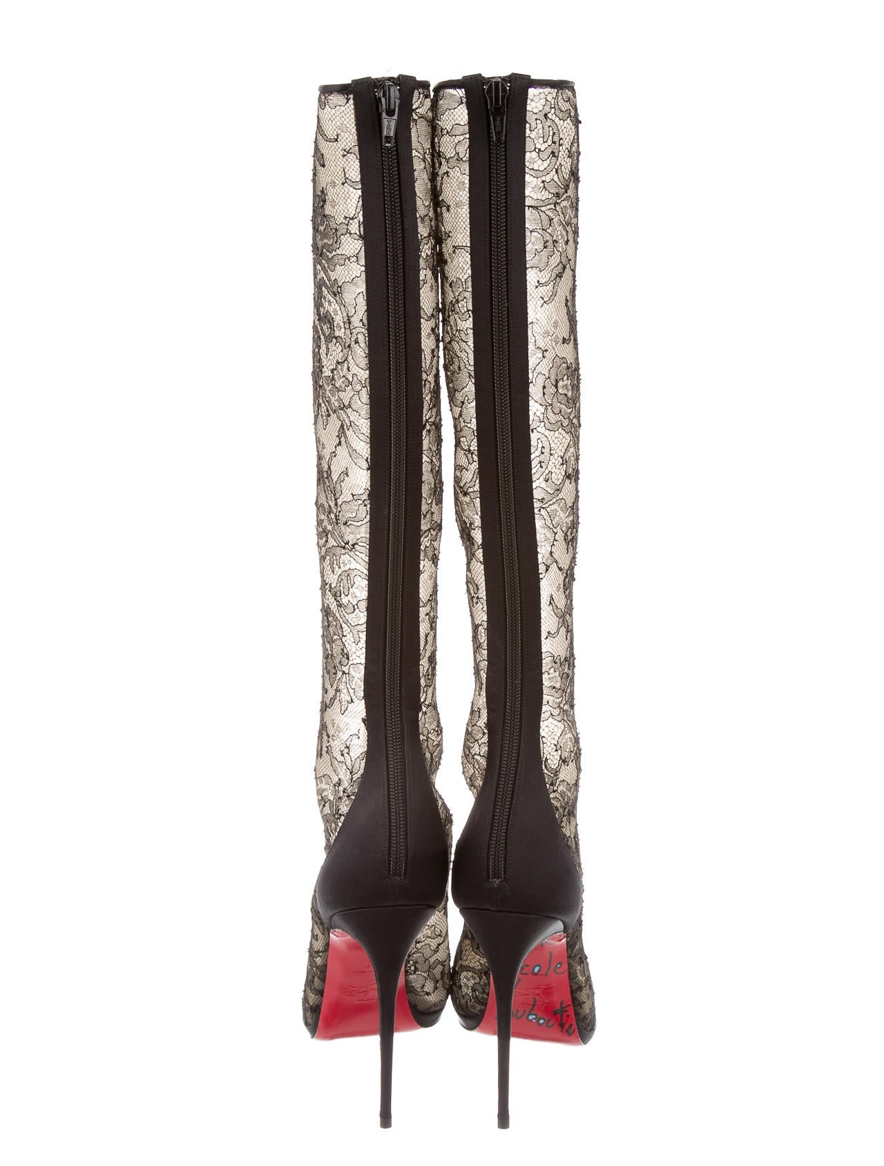 fake louis vuitton mens shoes - christian louboutin alta dentelle 120 boots, replica louboutins