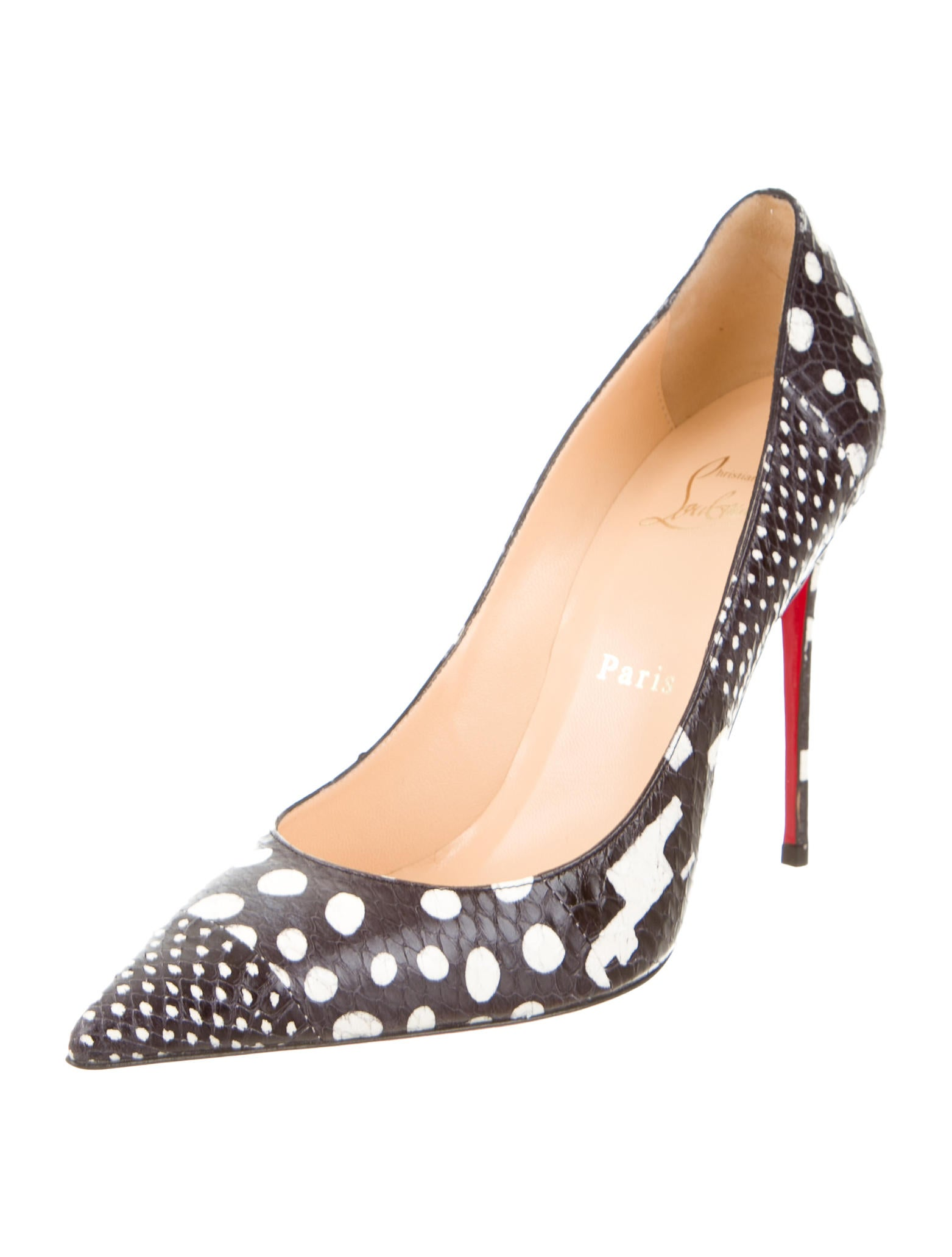 louboutin loafer - Christian Louboutin Snakeskin Pointed-Toe Pumps - Shoes - CHT44389 ...