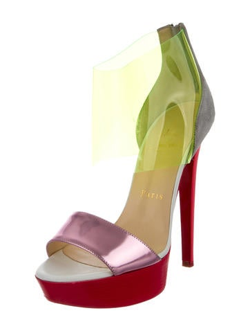 Christian Louboutin PVC-Accented Sandals - Shoes - CHT44415   The ...