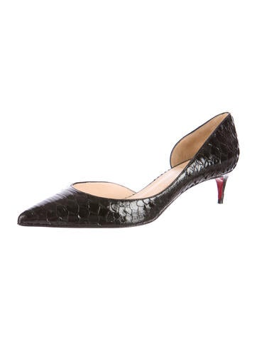 Christian Louboutin Python Iriza Half d\u0026#39;Orsay Pumps - Shoes ...