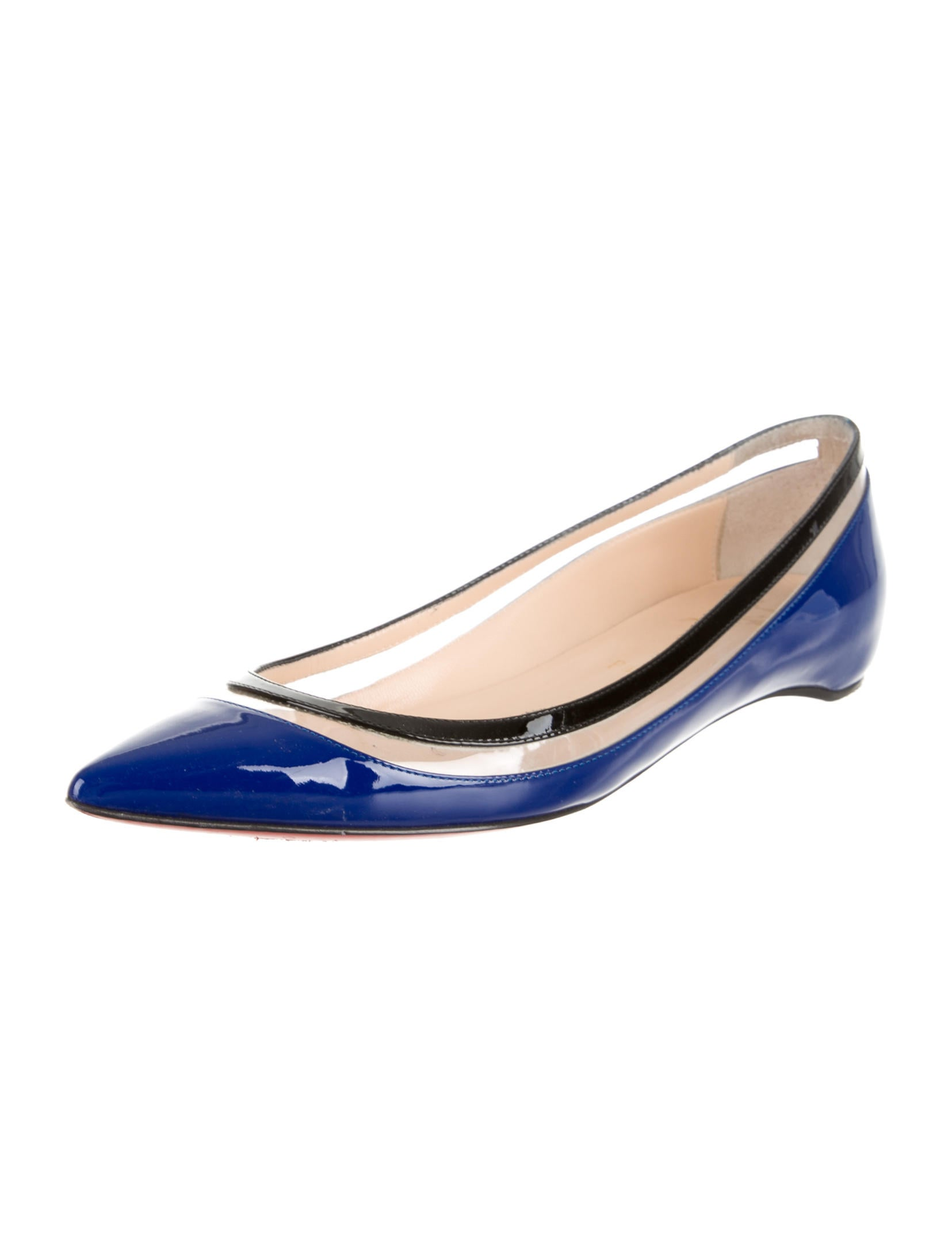christian louboutin pvc-accented flats