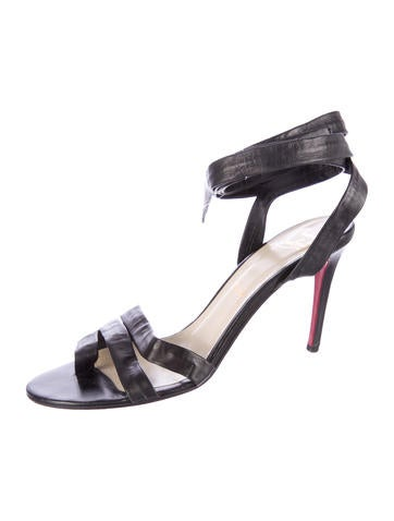 Christian Louboutin Leather Wrap-Around Sandals - Shoes - CHT44787 ...
