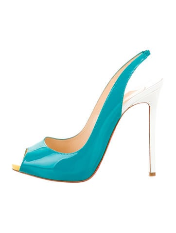 men christian louboutin sneakers - Christian Louboutin Teal Slingback Pumps - Shoes - CHT45241 | The ...