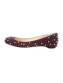 christian louboutin pink studded pumps - Christian Louboutin Creme Bow-Embellished Flats - Shoes - CHT41974 ...