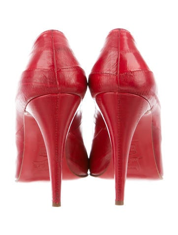 Christian Louboutin Eel Skin Round-Toe Pumps - Shoes - CHT45326 ...