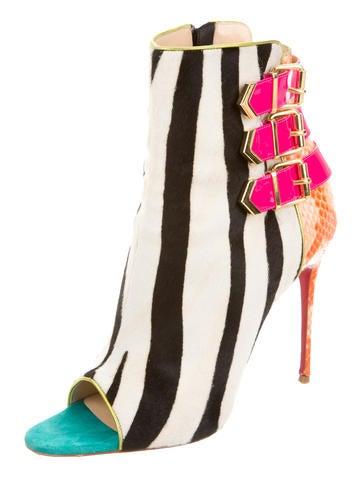louboutin shoes fake - christian louboutin triboclou 100 ponyhair booties, christian ...