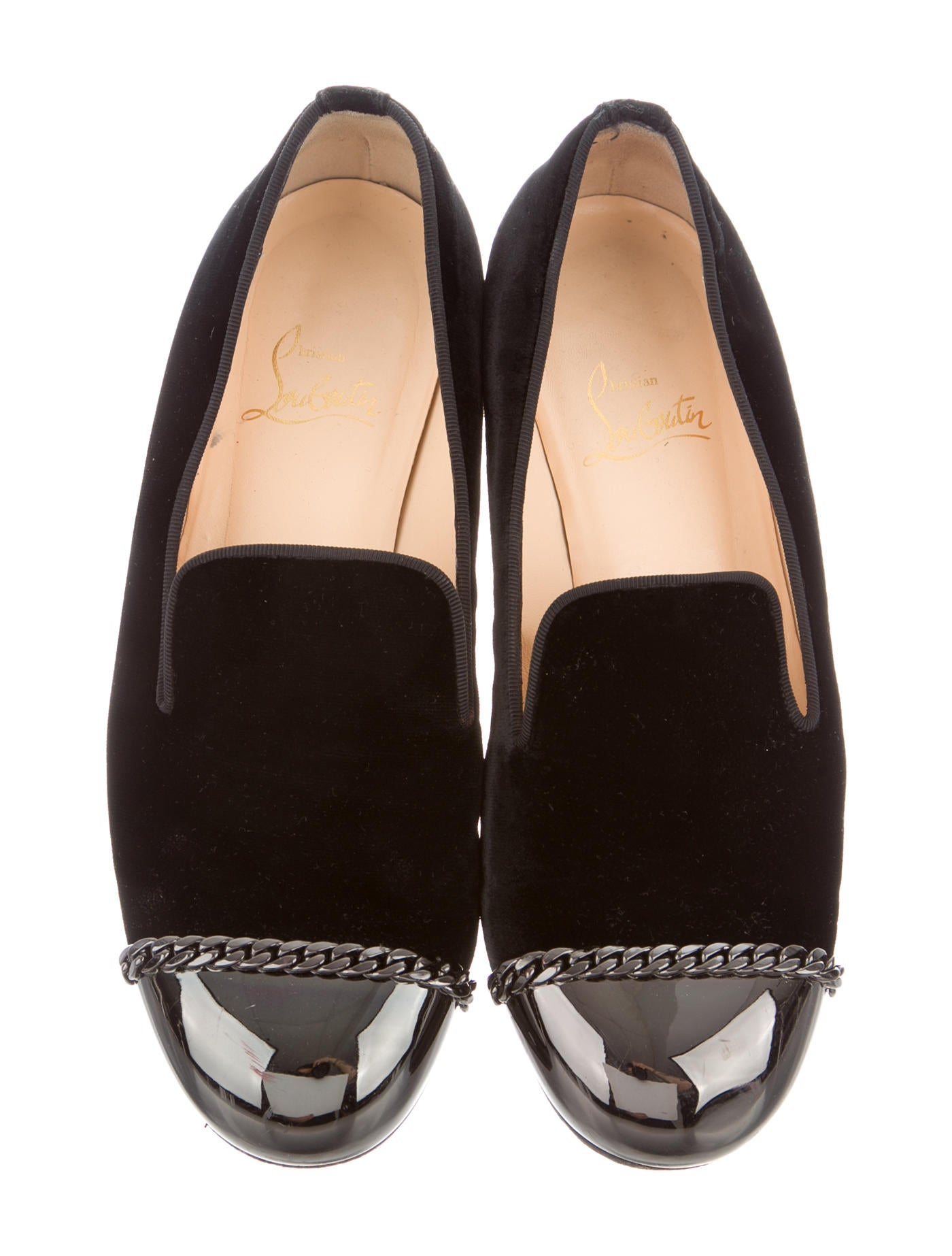christian louboutin shoes on sale - christian louboutin velvet cap-toe intern loafers, christian ...