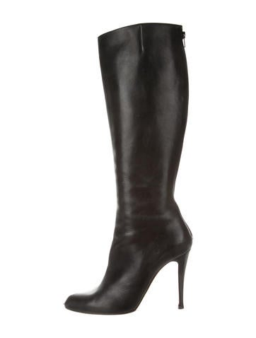 christian louboutin knee-high square-toe boots
