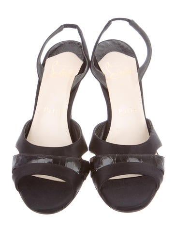 christian louboutin ostrich leg slide sandals