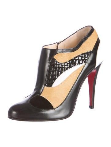 usa replica shoes - christian louboutin snakeskin round-toe booties, louboutin mens