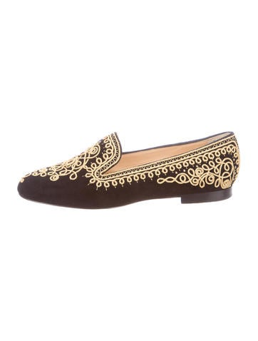 christian louboutin usa - christian louboutin feather-accented suede loafers, sneakers fake