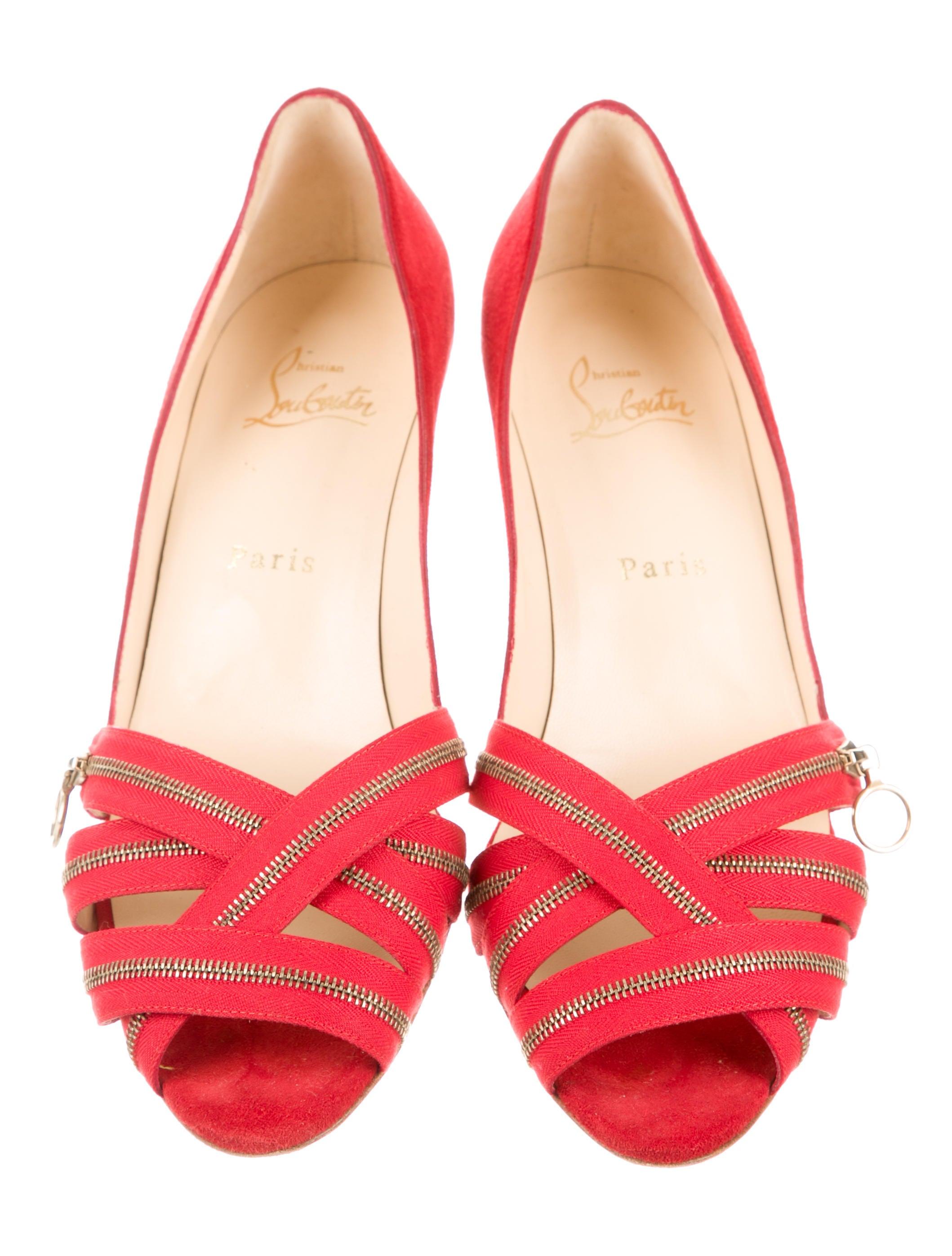 christian louboutin zipper-embellished sandals