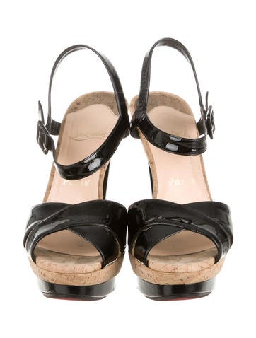 christian louboutin mens shoes sale - Christian Louboutin Patent Leather La Falaise Sandals - Shoes ...
