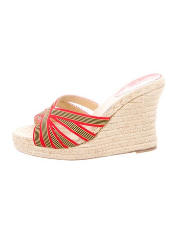 Christian Louboutin Espadrille Slide Sandals None