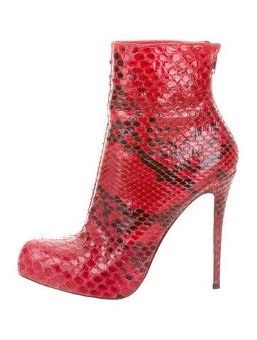 Christian Louboutin Arielle A Talon Python Ankle Boots