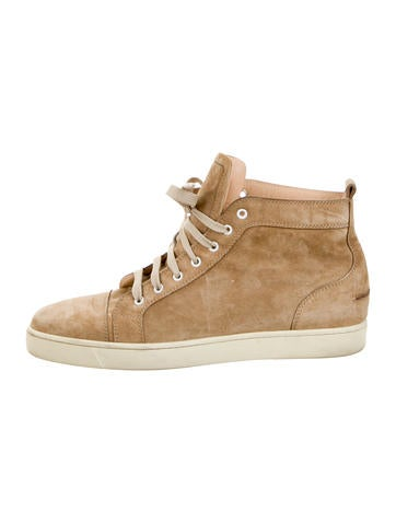 Christian Louboutin Suede Louis Flat Sneakers