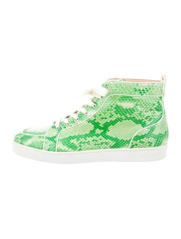 Christian Louboutin Snakeskin Orlato Sneakers