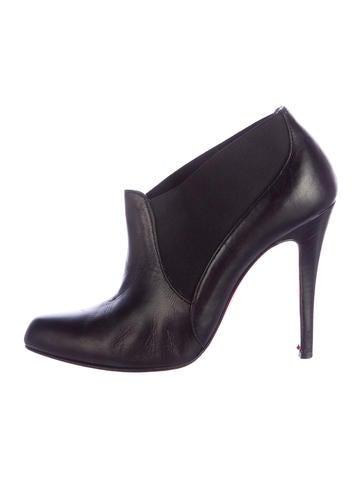 bouton shoes christian louboutin - christian louboutin round-toe ankle booties, imitation louis ...