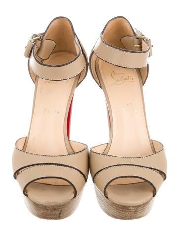 christian louboutin multistrap platform sandals