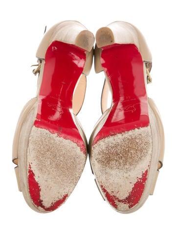 christian louboutin sneakers men - Christian Louboutin Multistrap Platform Sandals - Shoes - CHT49519 ...