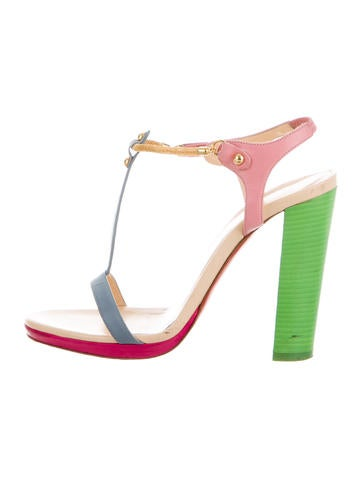 Christian Louboutin Multistrap Slide Sandals Mens Red