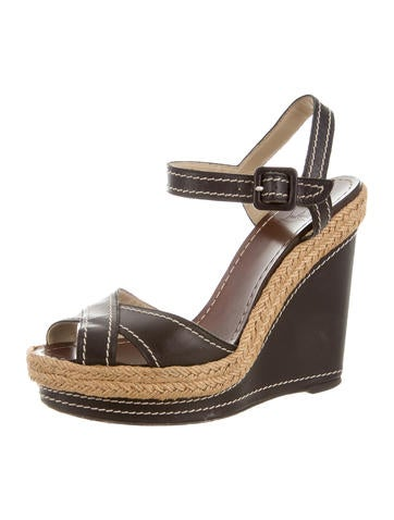 knockoff louis vuitton shoes - Christian Louboutin Wedges Luxury Fashion | The RealReal