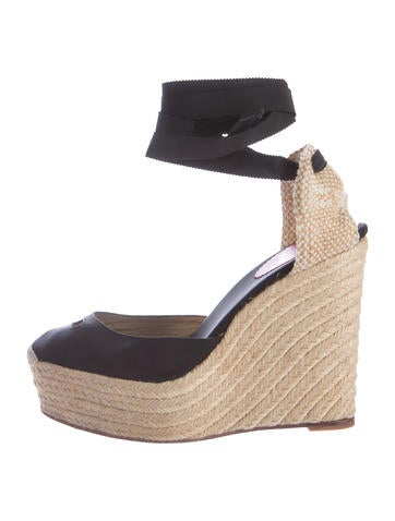 Christian Louboutin Tie-Up Platform Wedges None