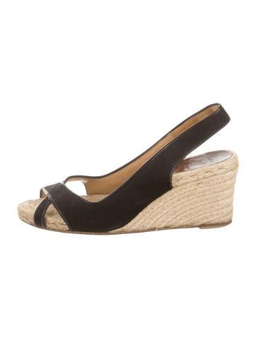 Christian Louboutin Crossover Espadrille Wedges None