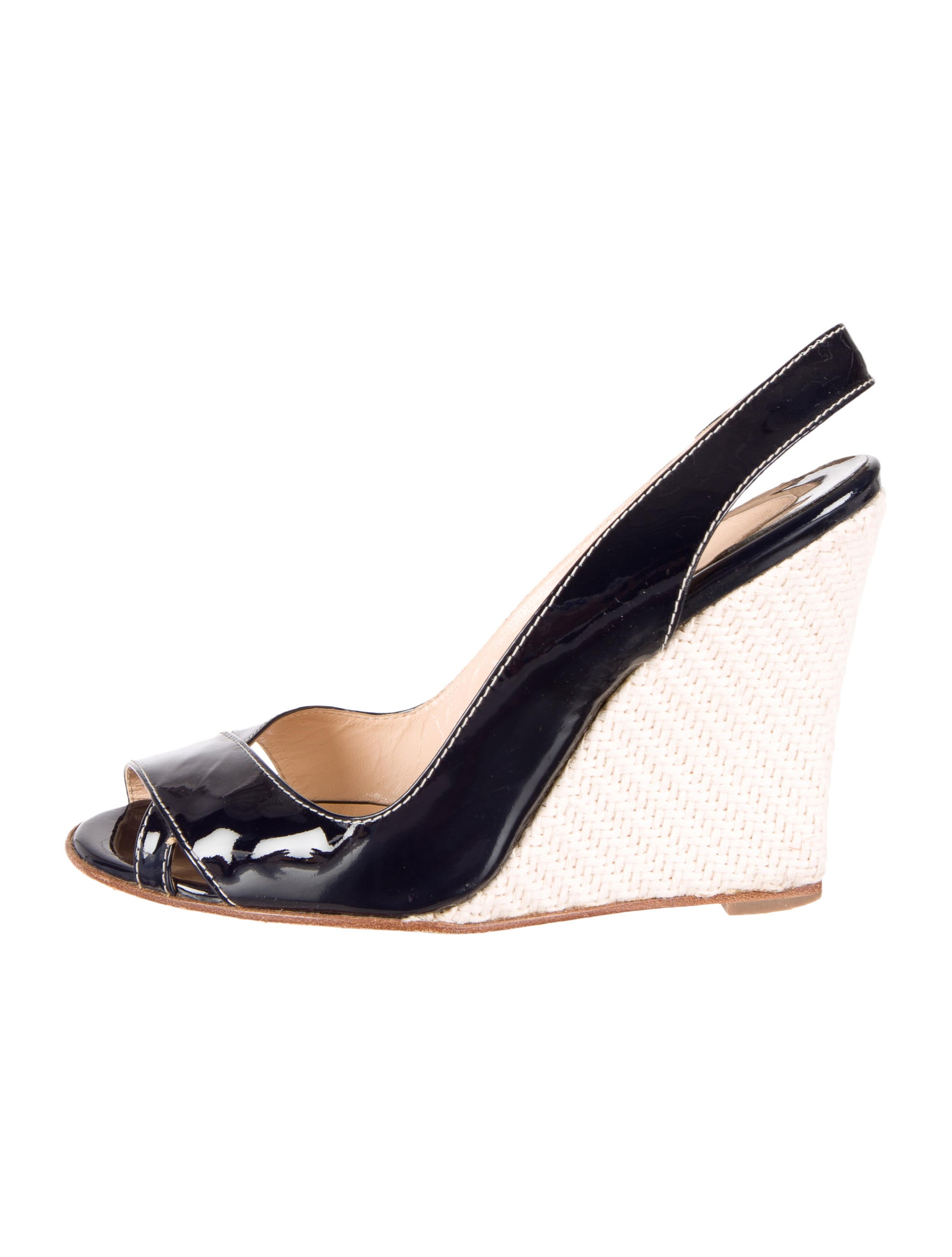 christian louboutin patent leather wedge sandals shoes