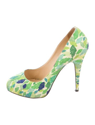 Charlotte Olympia Printed Round-Toe Pumps None