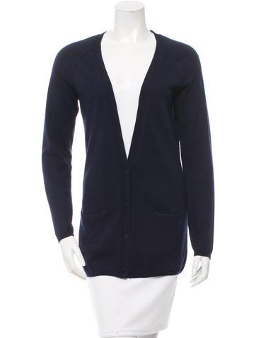 Comptoir Des Cotonniers Button-Up V-Neck Cardigan None