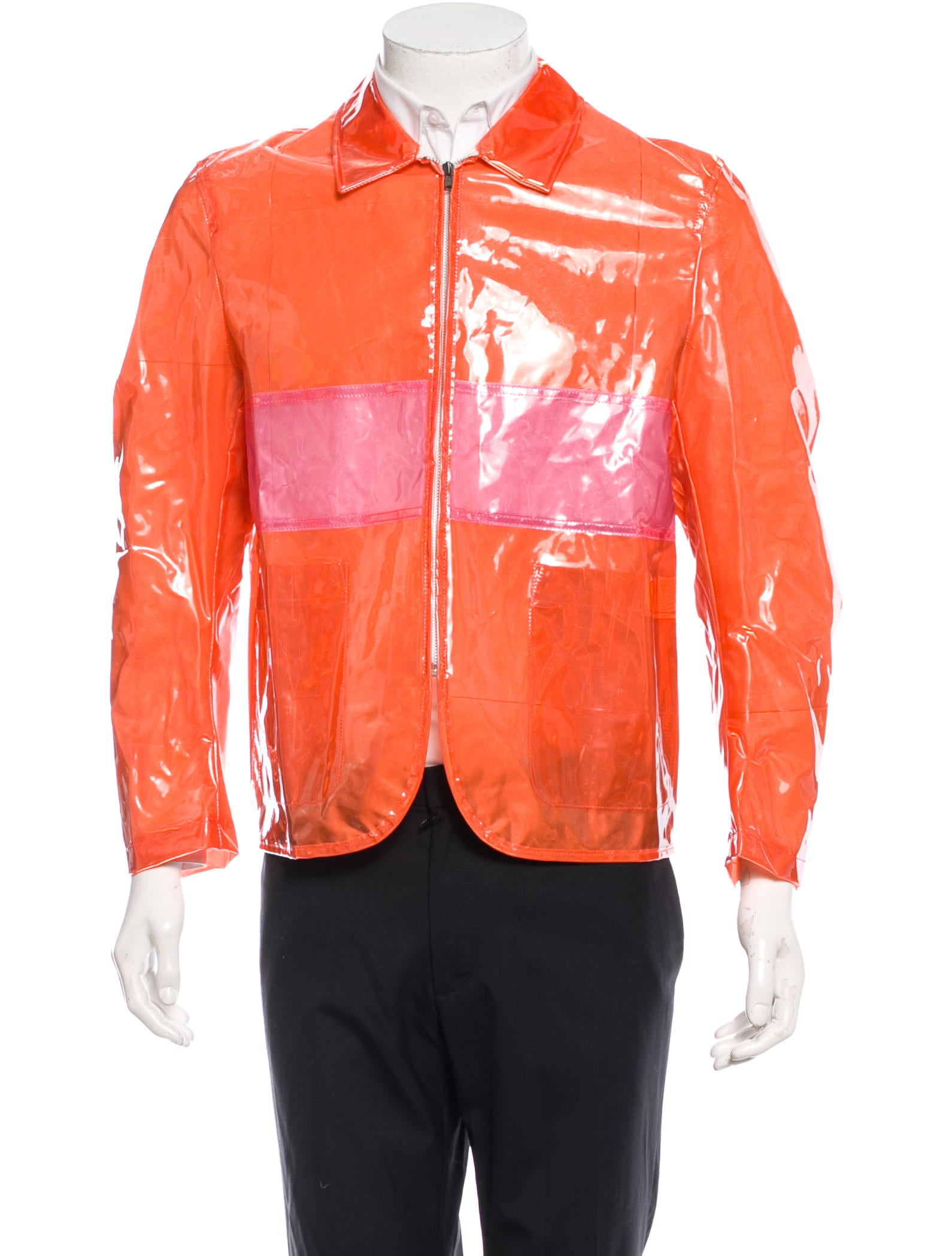 comme des gar 231 ons pvc paneled jacket clothing com22224