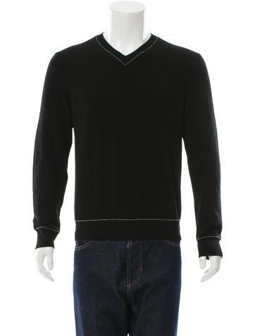 Comme des Garçons Wool V-Neck Sweater None
