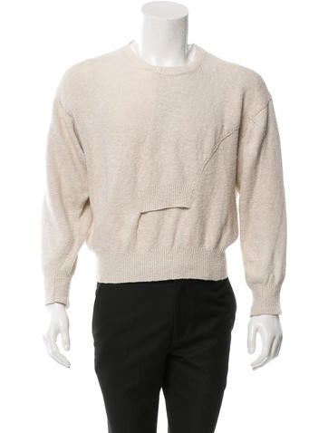 Comme des Garçons Pullover RIb Knit-Trimmed Sweater None